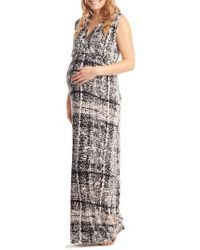 Everly Grey - Multicolor 'jill' Maternity Maxi Dress - Lyst
