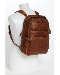 Frye Brown 'logan' Leather Backpack for men