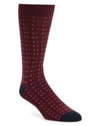 Ted Baker - Red Myra Dot Socks for Men - Lyst