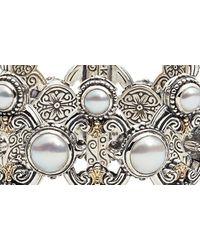 Konstantino Metallic Thalia Pearl Cuff Bracelet