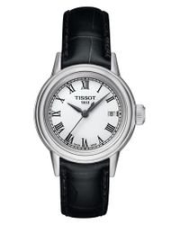 Tissot - Metallic Carson Leather Strap Watch - Lyst