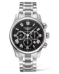 Longines - Metallic Master Automatic Chronograph Bracelet Watch for Men - Lyst