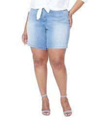 NYDJ Blue Bermuda Shorts