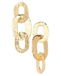 Oscar de la Renta   Metallic Link Drop Earrings   Lyst