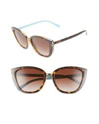 Tiffany & Co Brown Tiffany-t 55mm Sunglasses