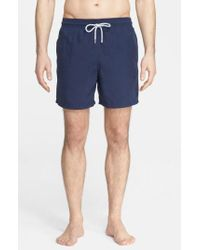 Vilebrequin - Blue 'moorea' Swim Trunks for Men - Lyst