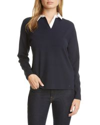 Ted Baker Blue Poliie Rugby Collar Sweater