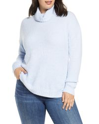 Caslon Blue Caslon Cozy Relaxed Turtleneck Sweater