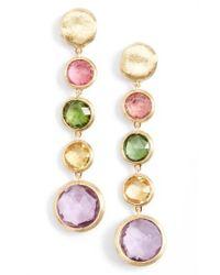 Marco Bicego - Metallic 'jaipur' Semiprecious Stone Linear Earrings - Lyst