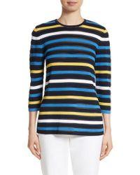 St. John - Blue Ombre Stripe Sweater - Lyst