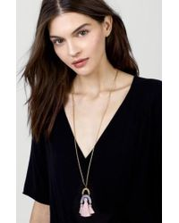 BaubleBar - Black Buablebar Shamia Tassel Pendant Necklace - Lyst