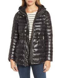 Vince Camuto - Black Hooded Down Jacket - Lyst