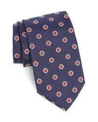 Strong Suit | Blue Medallion Silk Tie for Men | Lyst