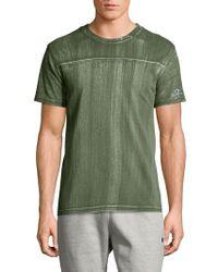 Champion Green Bleached Wash Crewneck Cotton T-shirt for men