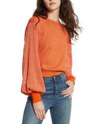 Free People - Orange Let It Shine Sweater - Lyst