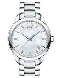 Movado Metallic 'bellina' Bracelet Watch