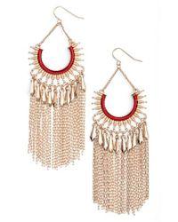 Adia Kibur - Red Chain Fringe Earrings - Lyst