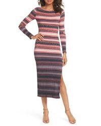French Connection - Red Bintan Degrade Rib Dress - Lyst