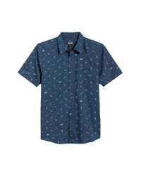 Patagonia Gray 'go To' Slim Fit Short Sleeve Sport Shirt for men