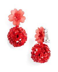 Sachin & Babi - Red Noir Fleur Drop Earrings - Lyst