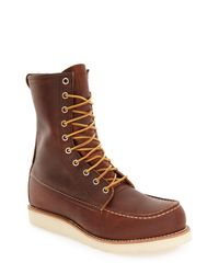 Red Wing Brown '877' Moc Toe Boot for men