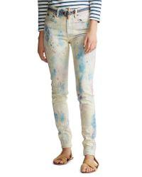 Polo Ralph Lauren Multicolor Tompkins High Waist Color Splattered Ankle Skinny Jeans