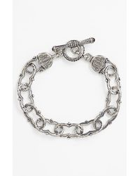 Konstantino Metallic 'classics' Link Toggle Bracelet