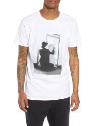 The Rail White David Bowie Mirror T-shirt for men