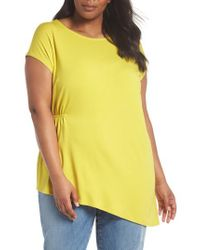 Eileen Fisher - Yellow Asymmetrical Jersey Top - Lyst
