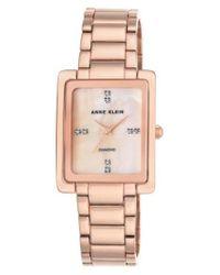 Anne Klein - Multicolor Diamond Bracelet Watch - Lyst