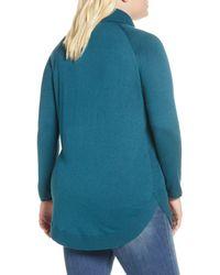 Caslon Blue Caslon Turtleneck Tunic Sweater