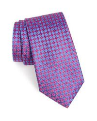 Nordstrom - Pink Middletown Geometric Silk Tie for Men - Lyst