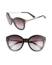 Longchamp Black 55mm Cat Eye Sunglasses