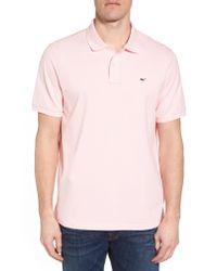 Vineyard Vines Pink Regular Fit Pique Polo for men