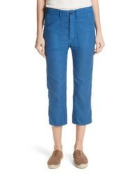 The Great - Blue The Straight Leg Army Pants - Lyst