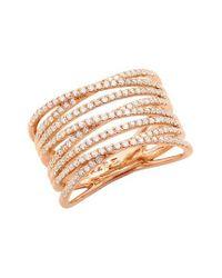 Bony Levy | Metallic 'liora' Eight Row Diamond Ring (nordstrom Exclusive) | Lyst