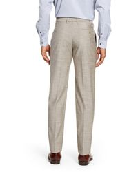 Zanella - Gray Parker Flat Front Classic Fit Solid Wool & Cotton Trousers for Men - Lyst