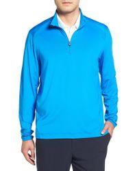 Cutter & Buck - Blue Williams Half Zip Pullover for Men - Lyst
