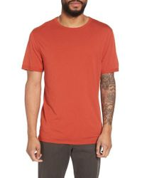 Vince - Orange Reverse Hem Slim Fit T-shirt for Men - Lyst