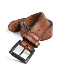 Johnston & Murphy Brown Leather Belt for men