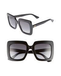 Gucci Black 53mm Square Sunglasses