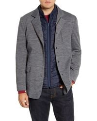 Rodd & Gunn Gray Wyndward Water Resistant Sport Coat With Removable Quilted Vest for men