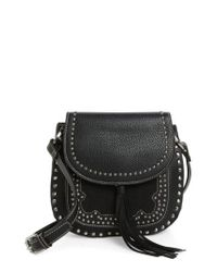 Shiraleah - Black Skylar Faux Leather Saddle Bag - Lyst