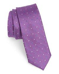Nordstrom Purple 1901 Mirage Dot Silk Tie for men
