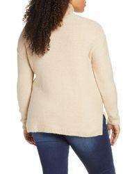 Caslon Natural Caslon Mock Neck High Low Sweater