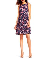 Adrianna Papell - Multicolor Fit & Flare Dress - Lyst