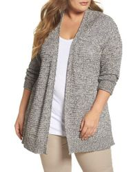 Caslon - Gray Caslon Easy Knit Cardigan - Lyst
