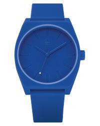 Adidas Blue Process Silicone Strap Watch