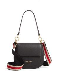 Ted Baker Pink Amali Leather Crossbody Bag