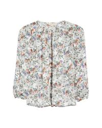 Rebecca Taylor | Gray Ruby Floral Top | Lyst